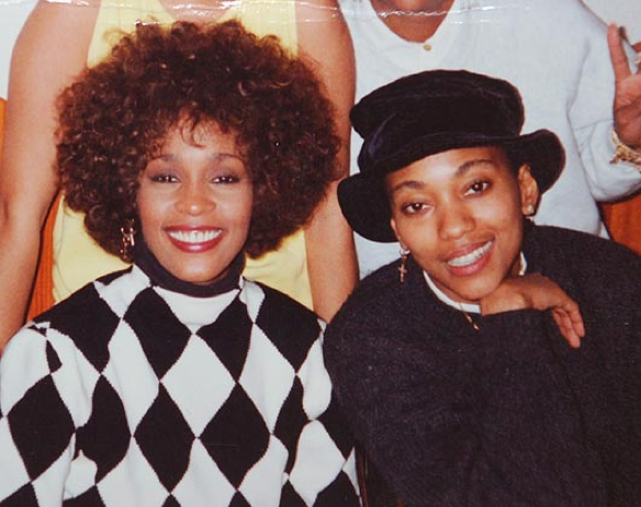 Whitney Houston with friend and long-time assistant Robyn Crawford.